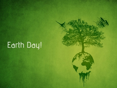 Earth Day PowerPoint Cover Slide 1 Free Download Earth Day PowerPoint