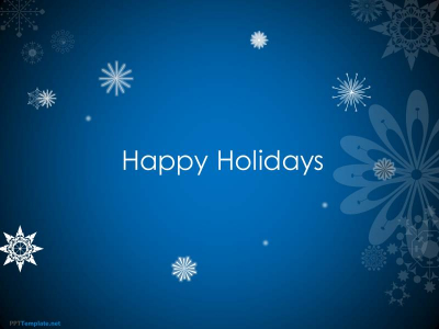 Free Animated Happy Holidays PPT Template
