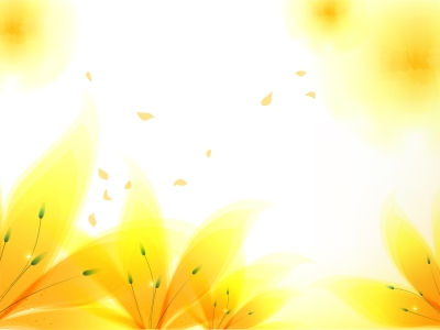 Fresh Yellow Flowers Backgrounds  Flowers, Yellow  PPT Backgrounds
