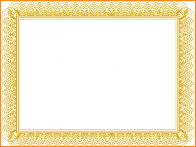 Gold Certificate Background Gold Formal Certificate Background