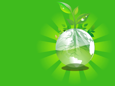 Green Earth Backgrounds  3D, Green, Nature  PPT Backgrounds