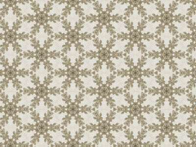 Lace: FINE VINTAGE BROWN LACE OVER WHITE