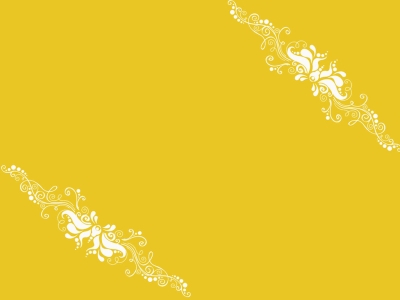 Yellow Ornaments PPT Template Design  PPT Backgrounds Templates