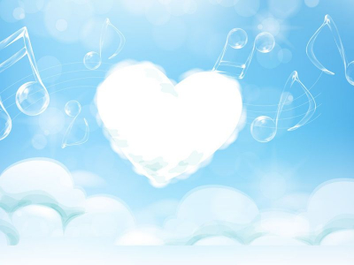 beautiful background picture Heart sky PowerPoint background   #9231