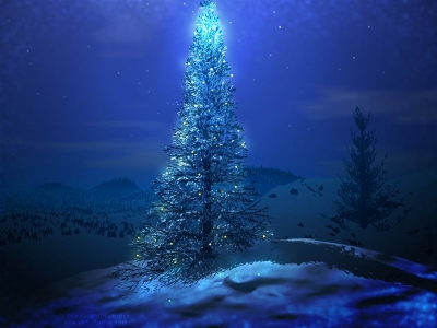 Christmas Tree and Santa Claus Wallpapers for Desktop  Backgrounds #9754