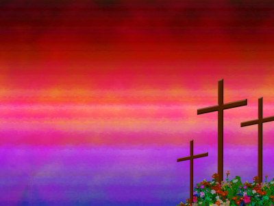 Christian Powerpoint Backgrounds Cross Christian Rose Garden Ppt