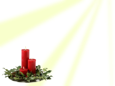 Christmas Candle Powerpoint Background For Powerpoint Templates Jpg