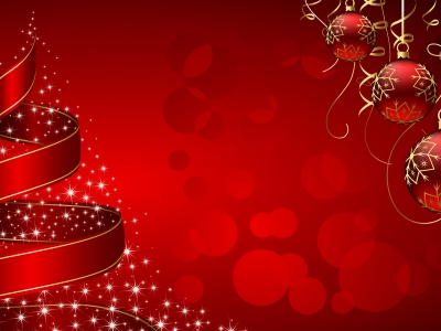 Christmas Tree And Baubles Wallpaper