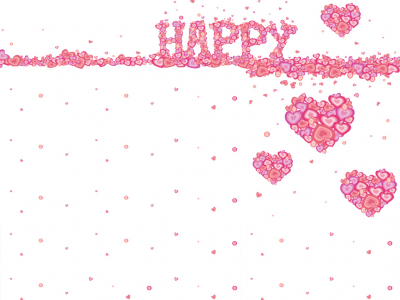 Happy Heart Background For PowerPoint #9237