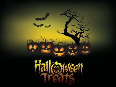 Halloween Treats Poster Backgrounds  3D, Games  PPT Backgrounds