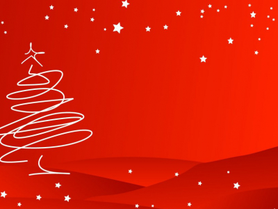 Presentation Slides  Red Line Art For Christmas PowerPoint Background