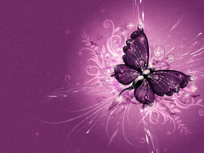 Purple Abstract Vector Butterfly Wallpaper