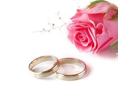 Wedding Background Design Pink Wedding Pink Rose And Rings