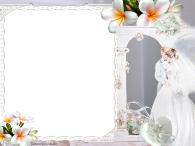 Wedding Double Hearts Backgrounds For PowerPoint  Miscellaneous PPT