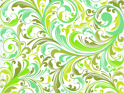 European Plant Pattern Background