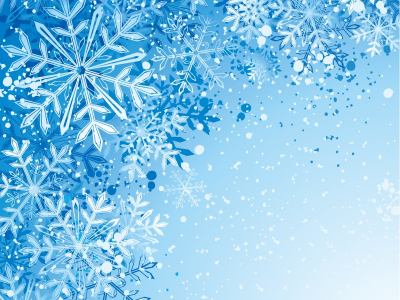 Real Snowflakes Background