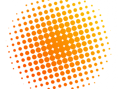 Orange Dots Background