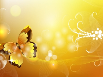 Butterfly Orange Abstract Free Ppt Backgrounds For Your