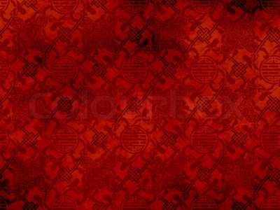 Chinese Red Textured Pattern In Filigree For Background Or Wallpaper