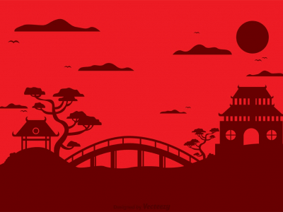 Chinese Temple Landscape Vector Background  Download Free Vector Art