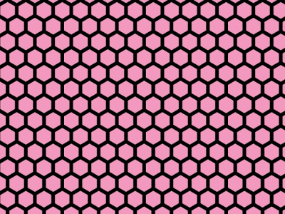 Colorful Hues Honeycomb Background