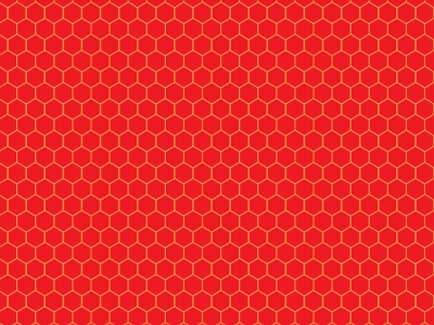 Red Hexagon Honeycomb Background Pattern