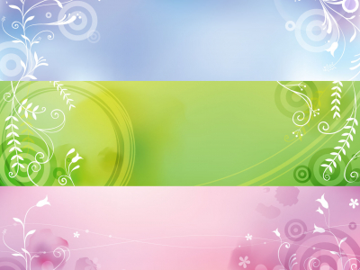 Elegant Plant Banners Vector Graphic