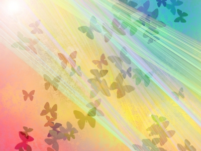 Free Butterfly Rain Light Backgrounds For Powerpoint