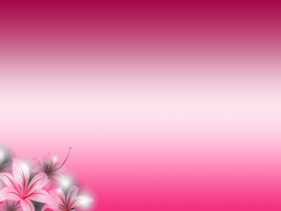 Floral Gradient Pink Flowers Background