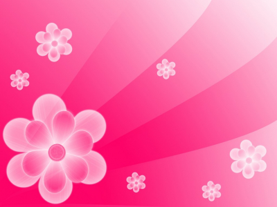 Simple Abstract Pink Flower Background
