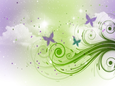 Free Sky And Butterflies Backgrounds For Powerpoint