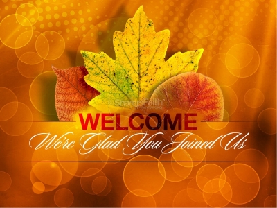Happy Thanksgiving Powerpoint Template  Fall Thanksgiving
