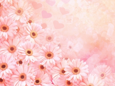 pink flower powerpoint template background #11033