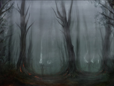 Scary Forest Background