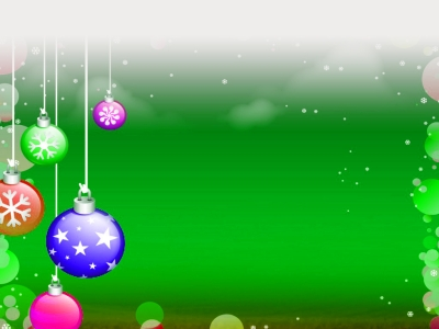 Christmas Decoration Ppt Backgrounds