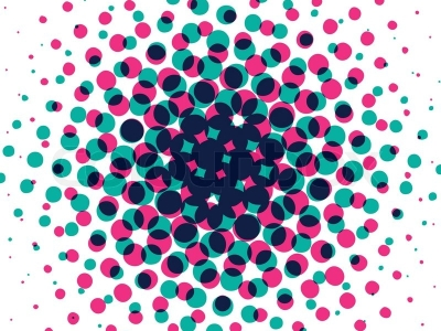 Raster Bitmap Polka Dotted Graphic Design Background