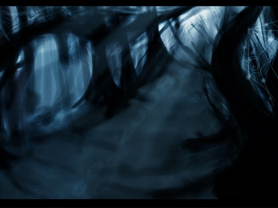 Spooky Forest Background By Esscohh