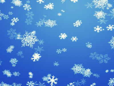 Snowflake Blue Abstract Background