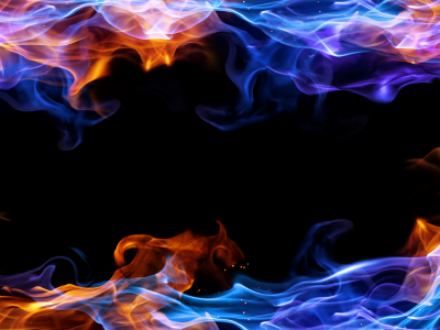 abstract blue fire frame background #3145