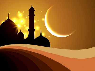 abstract islamic background with silhouette vector free google slides theme