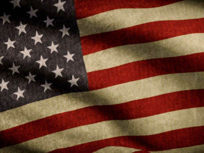 American Flag Background Vintage