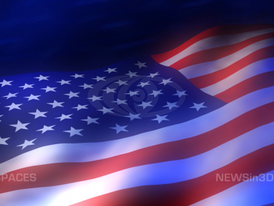 Animated American Flag Background Ppt