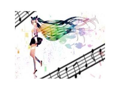 Anime Girl PPT Backgrounds Template For Presentation