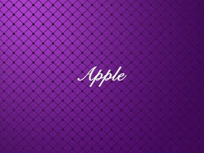Apple Abstract Purple Wallpaper