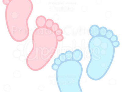 Background Baby Footprints