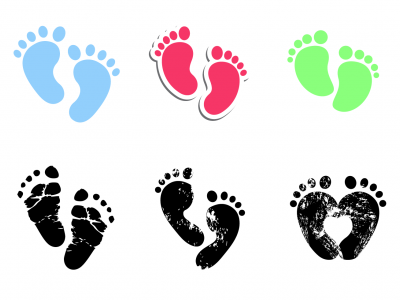 Baby Footprints Free Background