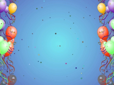 Balloon Background With Star Particles Hd