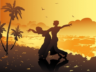 Beach Dance Powerpoint Slideshow Background