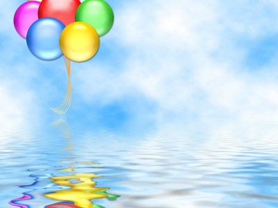 Birthday Sea Reflection Background Wallpaper