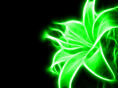 Black And Green Neon Wallpaper